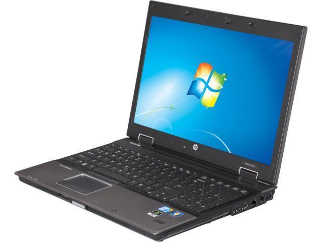 HP 8540W-ci7-1.6 Notebook Intel Core i7 1.60GHz 4GB Memory 250GB HDD Windows 7 Professional 64-Bit