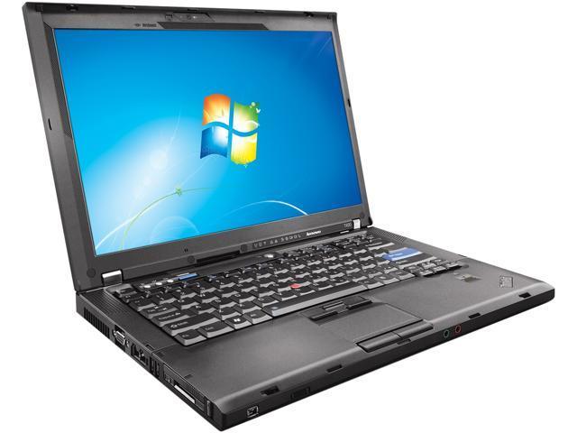 ThinkPad Laptop T Series T400 Intel Core 2 Duo 2.53GHz 4GB Memory 160GB HDD VGA: Yes 14.1
