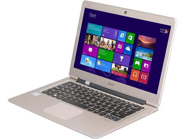 Acer Aspire S S3-391-6448 Notebook, B Grade Intel Core i3 2377M (1.50GHz) 4GB Memory 500GB HDD 20GB SSD Intel HD Graphics 3000 13.3
