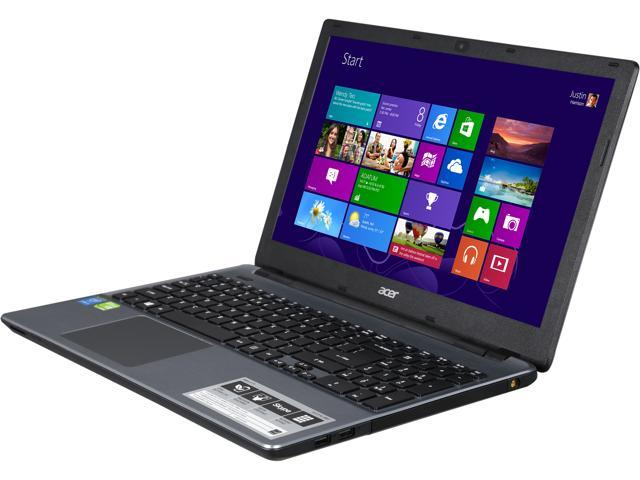Acer E5-571G-38VF Notebook Intel Core i3 4030U (1.90GHz) 4GB Memory 500GB HDD NVIDIA GeForce GT 820M 15.6