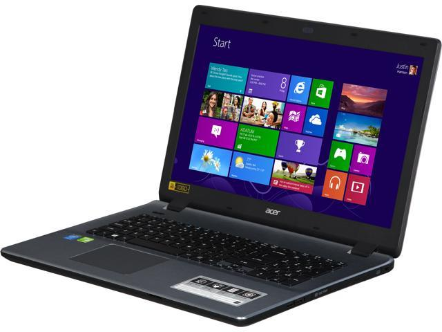 Acer E5-771G-51T2 Notebook Intel Core i5 4210U (1.70GHz) 8GB Memory 1TB HDD NVIDIA GeForce GT 840M 17.3