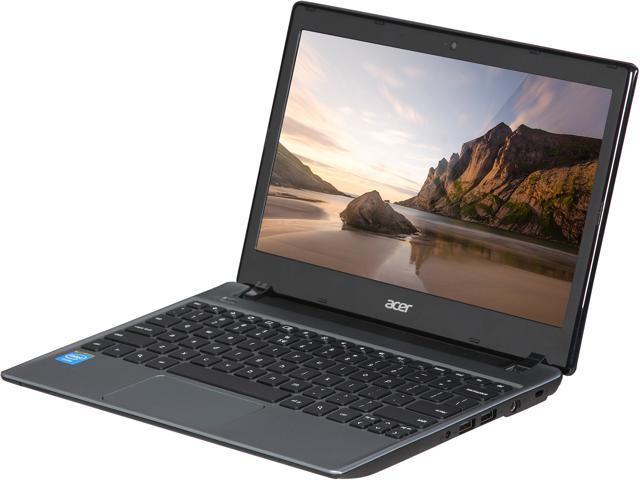 "Acer C710-2834 11.6"" Chromebook Intel Celeron 847 1.1Ghz 2GB RAM 16GB SSD Google Chrome OS Manufacturer Recertified"