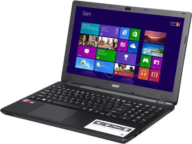 Acer Aspire E5-521-89GN Notebook AMD A-Series A8-6410 (2.00GHz) 6 GB DDR3L Memory 1TB HDD AMD Radeon R5 Series 15.6