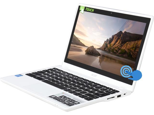 Acer C720P-2661 Chromebook, B Grade Intel Celeron 2955U (1.40GHz) 2GB Memory 32GB SSD 11.6