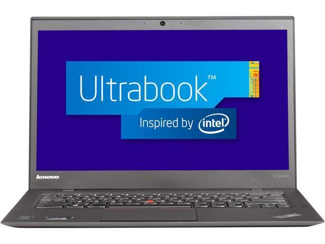 ThinkPad X1 Carbon Intel Core i7 4600U (2.10GHz) 8GB Memory 256GB SSD 14