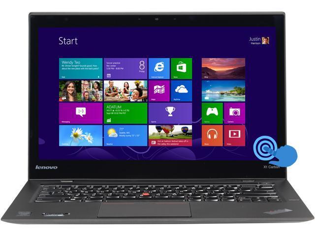 ThinkPad Carbon X1 Intel Core i5 4300U (1.90GHz) 4GB Memory 128GB SSD 14