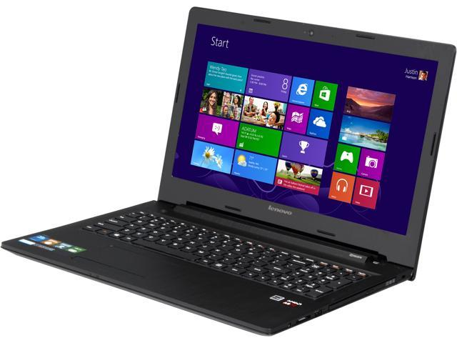 Lenovo G50-45 (80E3005NUS) Notebook AMD A-Series A8-6410 (2.00GHz) 6GB Memory 1TB HDD AMD Radeon R5 Series 15.6