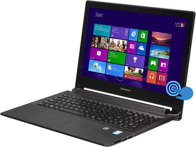 Lenovo 2-in-1 Notebook Flex 2 15 (59418265) Intel Core i7 4510U (2.00GHz) 8GB Memory 500GB HDD 8GB SSD Intel HD Graphics 4400 15.6