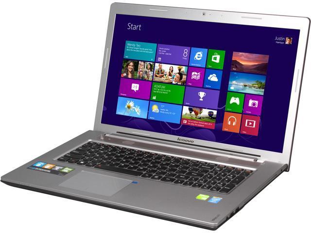 Lenovo Z710 (59421370) Notebook Intel Core i7 4710MQ (2.50GHz) 16GB Memory 1TB HDD 8GB SSD NVIDIA GeForce GT 745M 17.3
