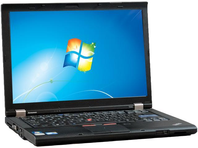 Lenovo T410 Notebook Intel Core i5 2.40GHz 4GB Memory 256GB SSD 14.1