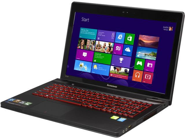 "Lenovo Y510P 15.6"" Notebook with Intel Core i5-4200MQ (3.10Ghz Turbo), 6GB DDR3 Memory, Hybrid 1TB/8GB Drive, HD Webcam, Bluetooth 4.0, HDMI Out, ..."