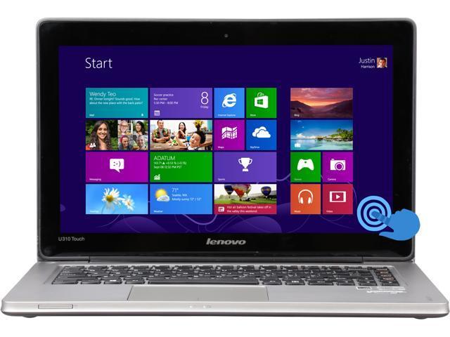 "LENOVO U310 13.3"" Touchscreen Ultrabook with Intel Core i5-3337U 1.8GHz (2.7GHz Turbo), 4GB DDR3 RAM, 500GB HDD, 720 HD Webcam, Dolby Home ..."