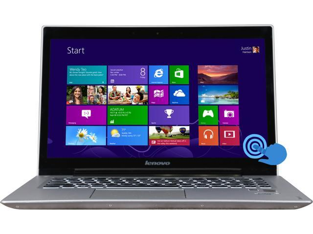 """Lenovo U430 Touch 14.0"""" Touchscreen Ultrabook with Intel Core i5-4200U 1.6Ghz (2.6Ghz Turbo), 4GB DDR3 RAM, 500GB + 8GB SSHD, 720p HD Webcam, ..."""
