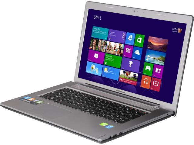 "Lenovo Z710 (59421370) 17.3"" Notebook with Quad Core Intel Core i7 4710MQ 2.50GHz (3.50Ghz Turbo), 16GB Memory, 1TB HDD + 8GB SSD, NVIDIA GeForce ..."