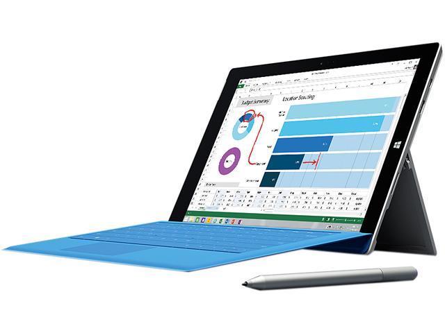 Microsoft Surface Pro 3 Intel Core i3 CPU 4GB RAM 64GB Storage 12.0
