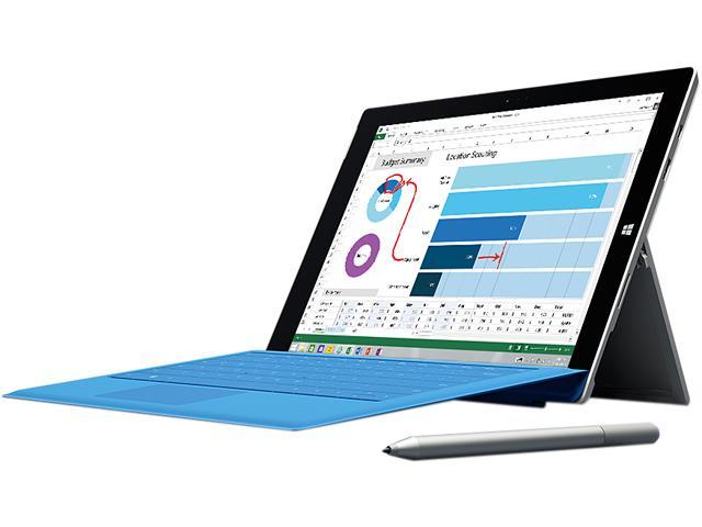 "Microsoft Surface Pro 3 Intel Core i5 CPU 4GB RAM 128GB Storage 12.0"" Tablet PC MQ2-00001"