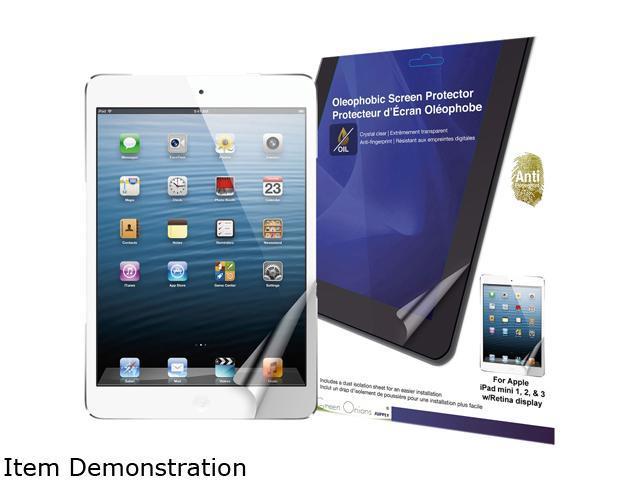 Green Onions supply Crystal Oleophobic Screen Protector for iPad mini, iPad mini 2, and iPad mini 3 RT-SPIPADM07