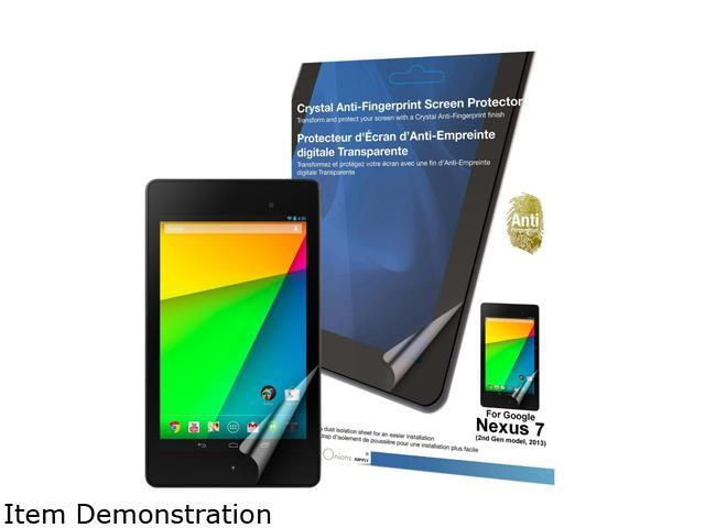 Green Onions supply Crystal Anti-Fingerprint Screen Protector for Google Nexus 7 (2013 model, 1-pcak) RT-SPGN72G01AF
