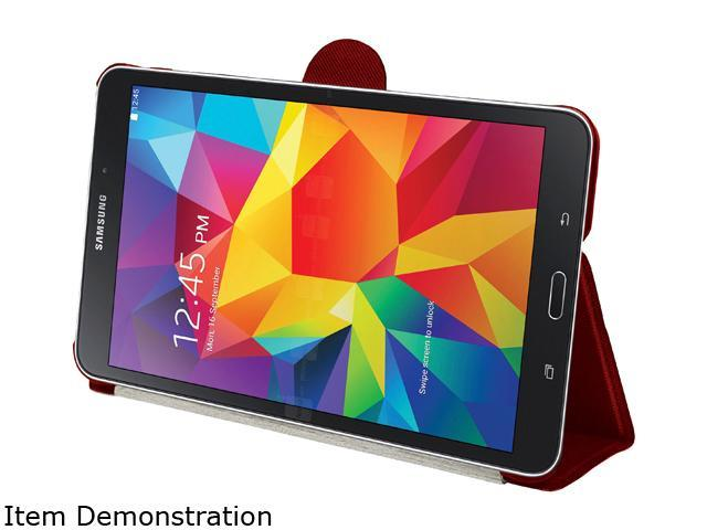 STM Red skinny pro Carrying Case (Folio) for Galaxy Tab4 8.0 Model stm-222-081H-29