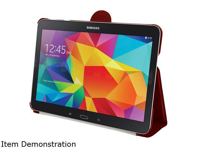 STM Red skinny pro Carrying Case (Folio) for Galaxy Tab4 10.1 Model stm-222-081J-29
