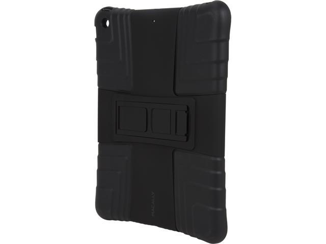 macally Black Hardshell Case with Flexible Grip/Sturdy Kickstand provides 3 different viewing angles for iPad Air Model TopoPA5-B