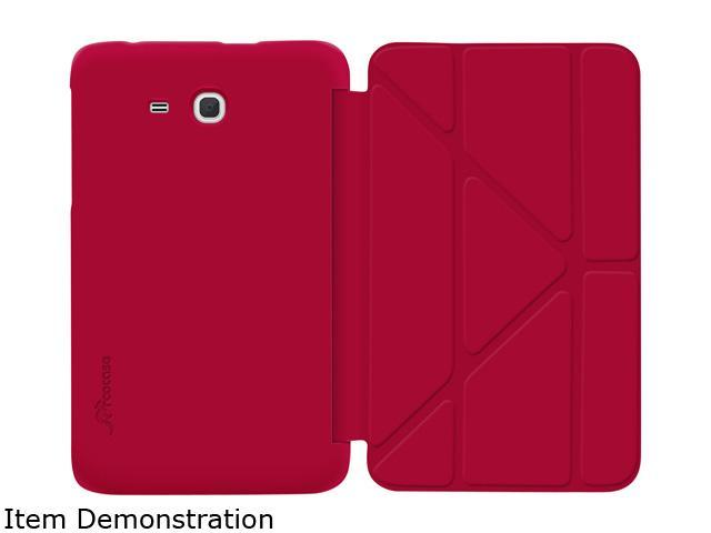 rooCASE Red Slim Shell Origami Case For Samsung Galaxy Tab 3 Lite 7.0 Model RC-GALX7-LITE-OG-SS-RD
