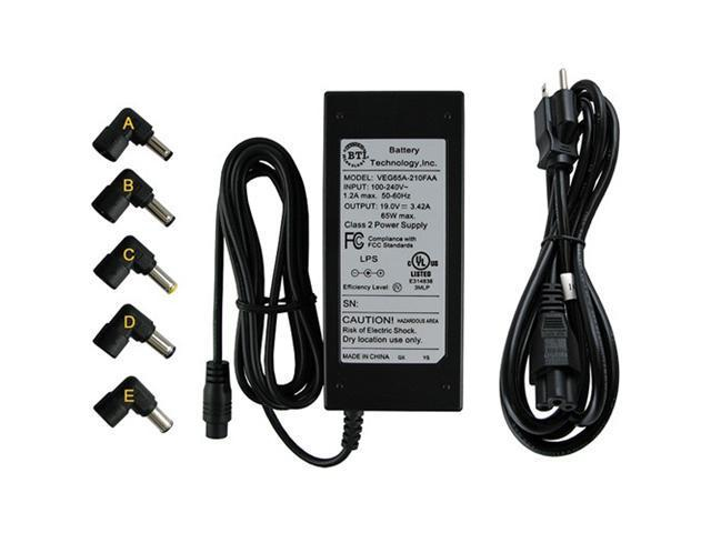BATTERY TECHNOLOGY AC-U65W-5X Notebook AC Adapter