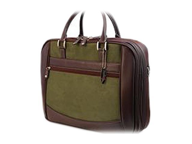 """Mobile Edge Green ScanFast Checkpoint Friendly Element Briefcase - 16"""" PC/17"""" Mac Model MESFEB9"""