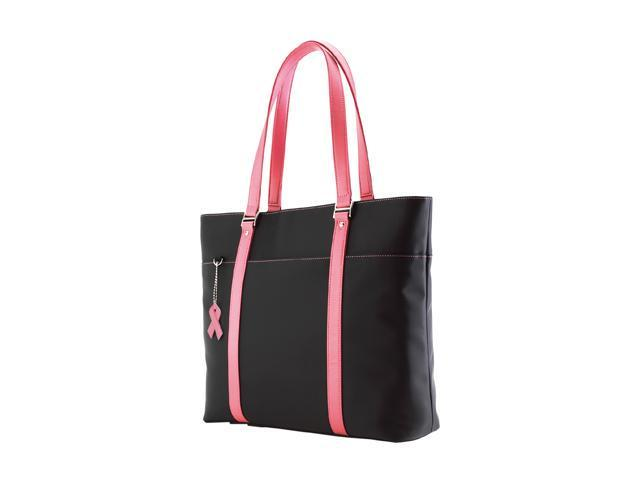 Mobile Edge Black/Pink Ladies Komen MicroFiber Tote - 16
