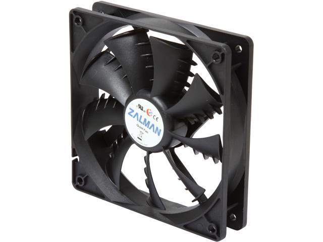 Zalman Ultra Quiet Fan Series F1 Plus (SF) 120mm case fan w/ Shark-fin blade, Long Life (EBR) bearing, minimal noise and vibration, comes with ...