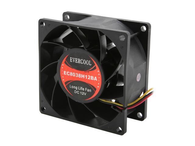EVERCOOL EC-8038 Series FAN-EC8038H12BA 80mm Case Cooling Fan