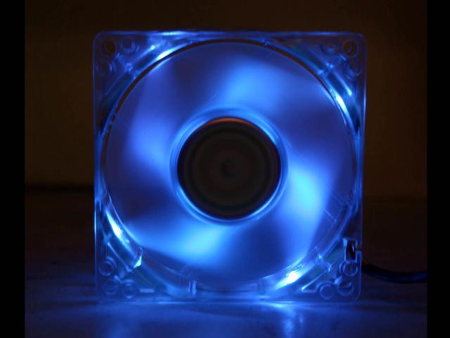 MASSCOOL BLD-08025S1M 80mm Blue LED Case Cooling Fan