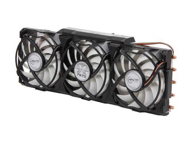 ARCTIC Accelero Xtreme 7970 VGA Cooler - nVidia & AMD, 3 Quiet 92mm PWM Fans, CrossFire