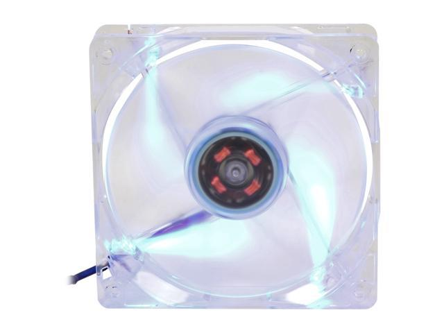 rosewill rfx 120bl 120mm computer case cooling fan transparent