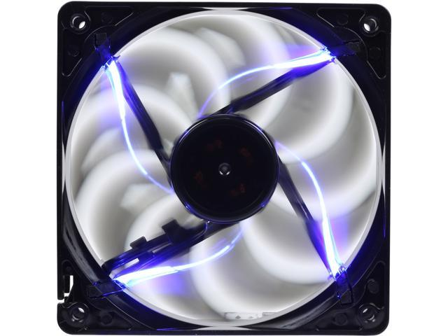 Rosewill 120mm Computer Case Fan (Case Cooling Fan) - Black Frame & 4 Blue LEDs, Fluid Dynamic Bearing, Silent Fan with LP4 Adapter; RNBL-131209B