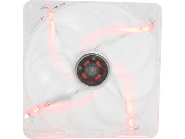 Rosewill RFTL-131409R cooling fan, 140mm, 1200RPM ± 10%RPM, 55.4CFM, 21dBA,Transparent frame with red LED