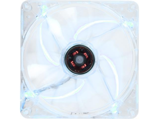 Rosewill 140mm Computer Case Fan (Case Cooling Fan) - Transparent Frame & 4 Blue LEDs, Fluid Dynamic Bearing, Silent Fan with LP4 Adapter; ...