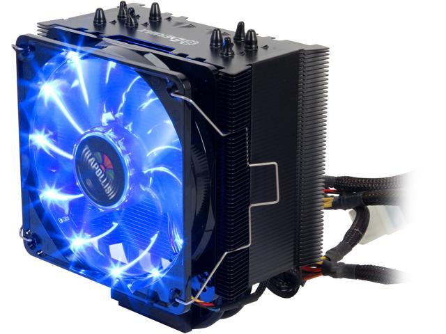 Enermax ETS-T40-BK Black 120mm Twister CPU Cooler with TB Apollish Blue LED PWM Fan