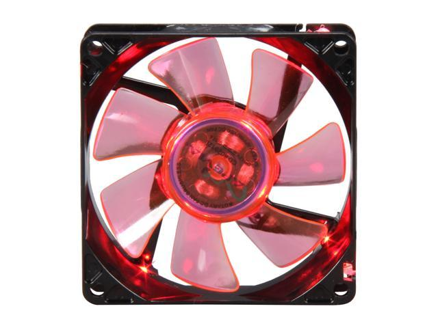 APEVIA CF8SL-BRD 80mm Red LED Case Fan w/Grill