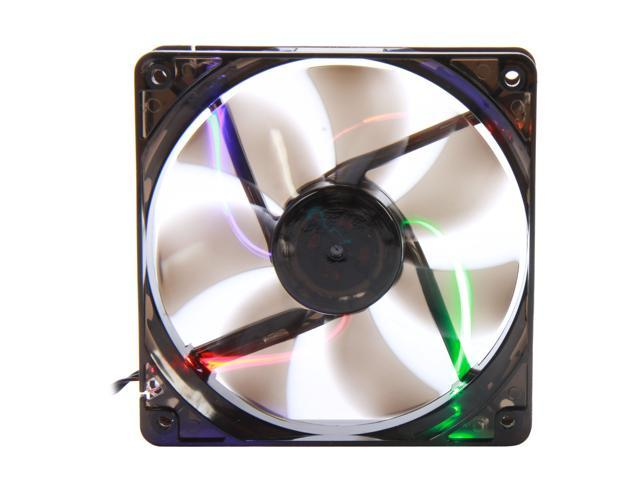 APEVIA  CF12SL-T4C  120mm UV multi-color LED fan w/3-pin and 4-pin connectors and black grill