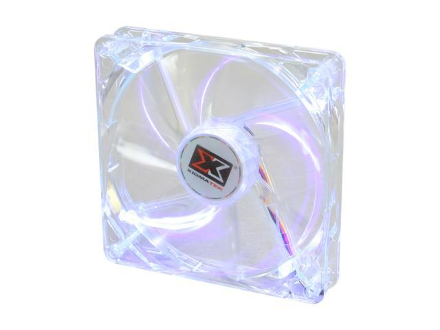 XIGMATEK FCB (Fluid Circulative Bearing) Cooling System Crystal Series CLF-F1455 140mm Purple LED Case Fan PSU Molex Adapter/extender included