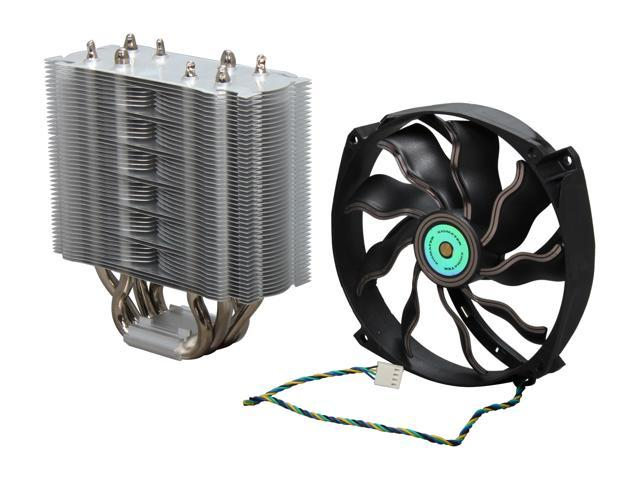 XIGMATEK Prime SD1484 (CAC-SYHH4-U01) 140mm Sleeve Bearing (with copper bushing axle) CPU Cooler, CROSSBAR with PRESSURE VAULT MOUNTING BRACKET ...