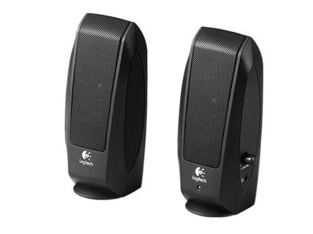 Logitech S-120 2-Piece Multimedia Computer Speaker Set w/ Headphone Jack - Black