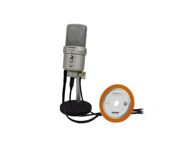 SAMSON GM1U Silver G-Track USB Condenser Mic with Audio Interface