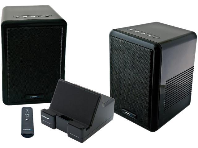 Sabrent SP-ESKY Weather Resistant 900MHz Wireless Indoor/Outdoor 150 FT 2 Speaker System with Remote and Dual Power