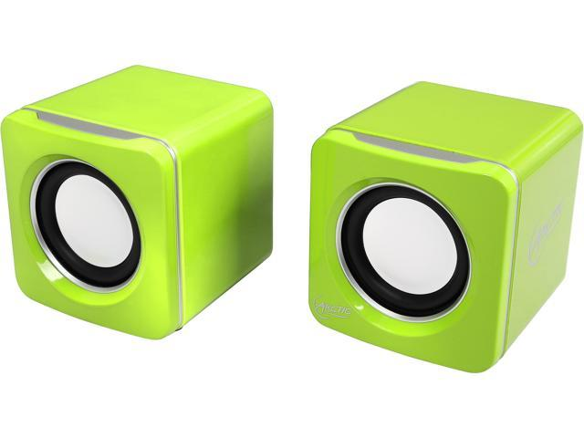Arctic Speaker S111-Lime USB-Powered Portable Stereo Speakers for Tablet/eReader/MP3/Computers, Balanced Treble/Superior Bass