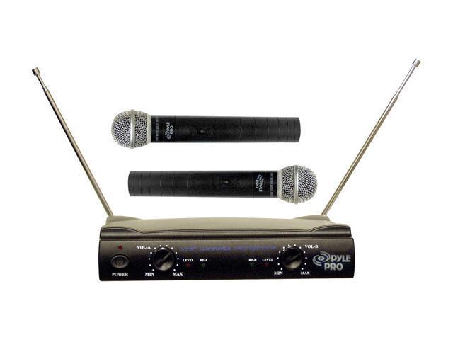 Pyle PDWM2500 Dual VHF Wireless Microphone System