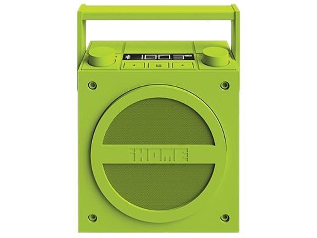 iHome iBT4QC Speaker System - Wireless Speaker(s) - Green