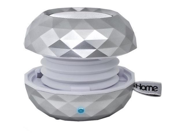 iHome iBT66 Speaker System - 3 W RMS - Wireless Speaker(s) - White