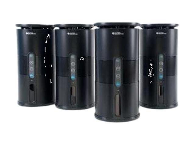 C2G 41301 Premium 900MHz Wireless Indoor/Outdoor 4 Speaker System w/ Remote and Dual Power Transmitter, Black